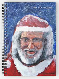 Jerry Garcia Santa Notebook by Boulder artist Tom Roderick