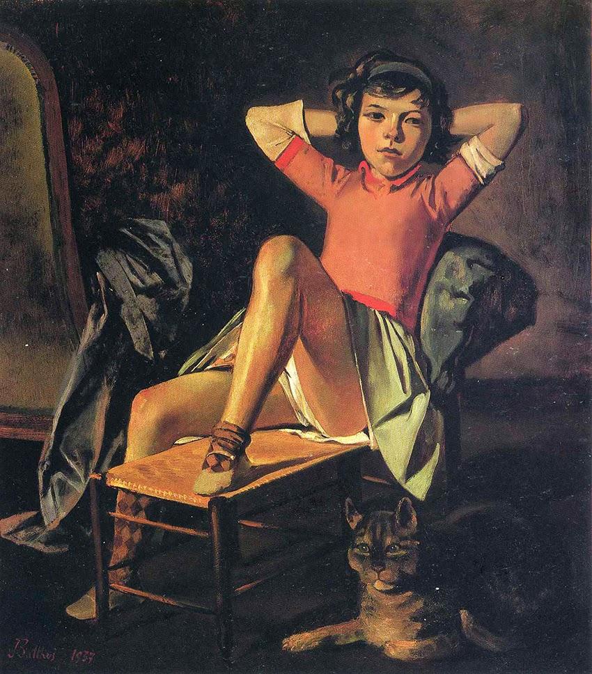 Menina com Gato - Balthus e sua fixação por garotas e gatos ~ Pintor francês