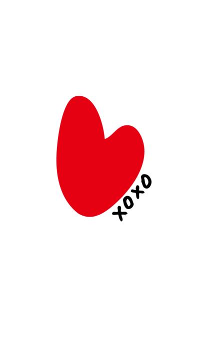 XOXO heart - White-joc