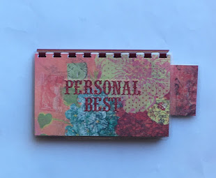 Handmade Red 'Personal Best' Blank Recipe Book for Personal Recipes on etsy. Click image for info.