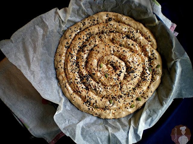 Börek con harina de espelta: montaje terminado