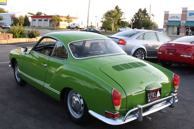 1971 volkswagen karmann ghia green buy classic volks. Black Bedroom Furniture Sets. Home Design Ideas