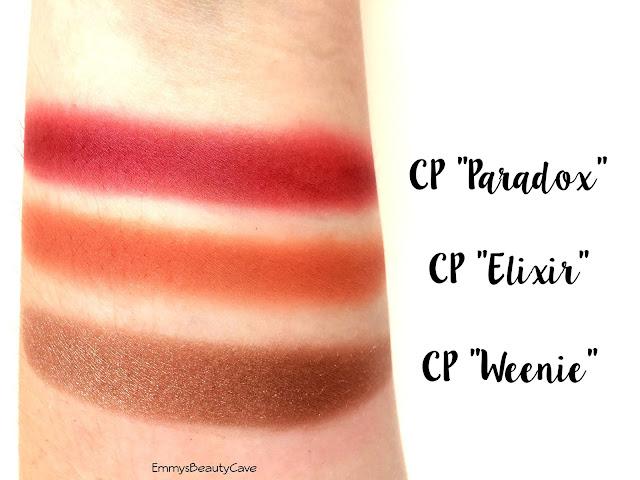 ColourPop Elixir Paradox Weenie Swatches