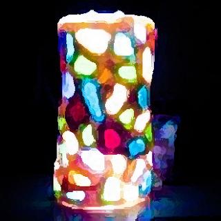 Cristal de mar encendido