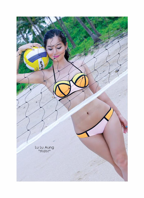 lu lu aung with swimming suit