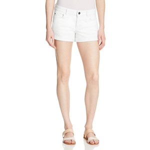 Warp & Weft rolled cuff denim shorts in white, USD 64 from Bloomingdales