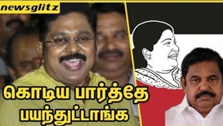TTV Dinakaran funny remark about EPS & OPS | Amma Party Flag