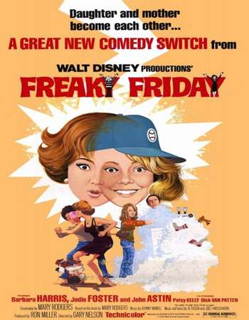 Poster Of Freaky Friday 1976 English 450MB Web-DL 720p ESubs HEVC Free Download Watch Online Downloadhub.in
