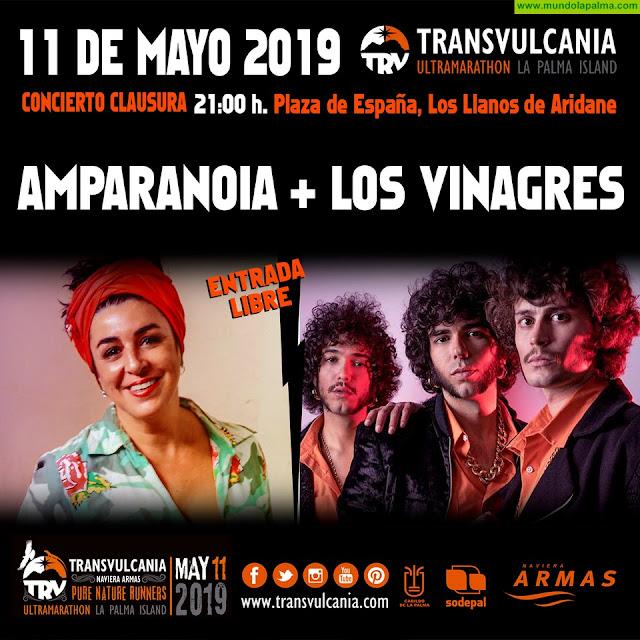 Amparanoia y Los Vinagres cerrarán La Transvulcania Naviera Armas 2019