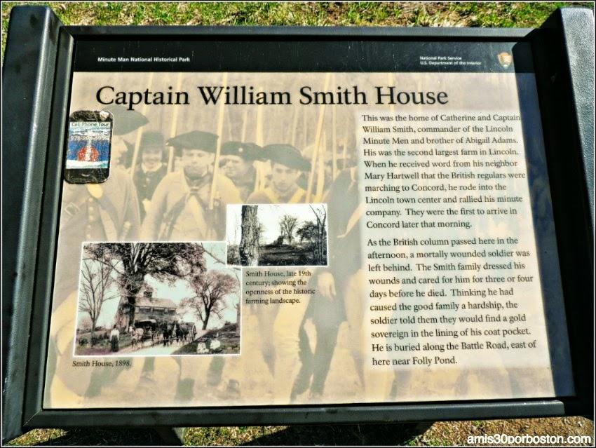 Cartel de la Casa del Capitán William Smith