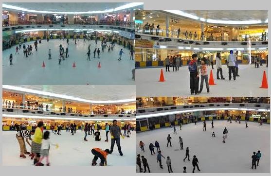 tempat ice skating di jakarta, sky rink jakarta