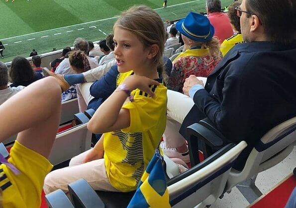 Prince Daniel and Princess Estelle attended FIFA Women's World Cup France 2019 at Allianz Riviera Stadium in Nice