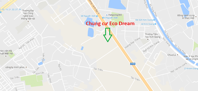 Vị trí dự án căn hộ chung cư Ecodream.
