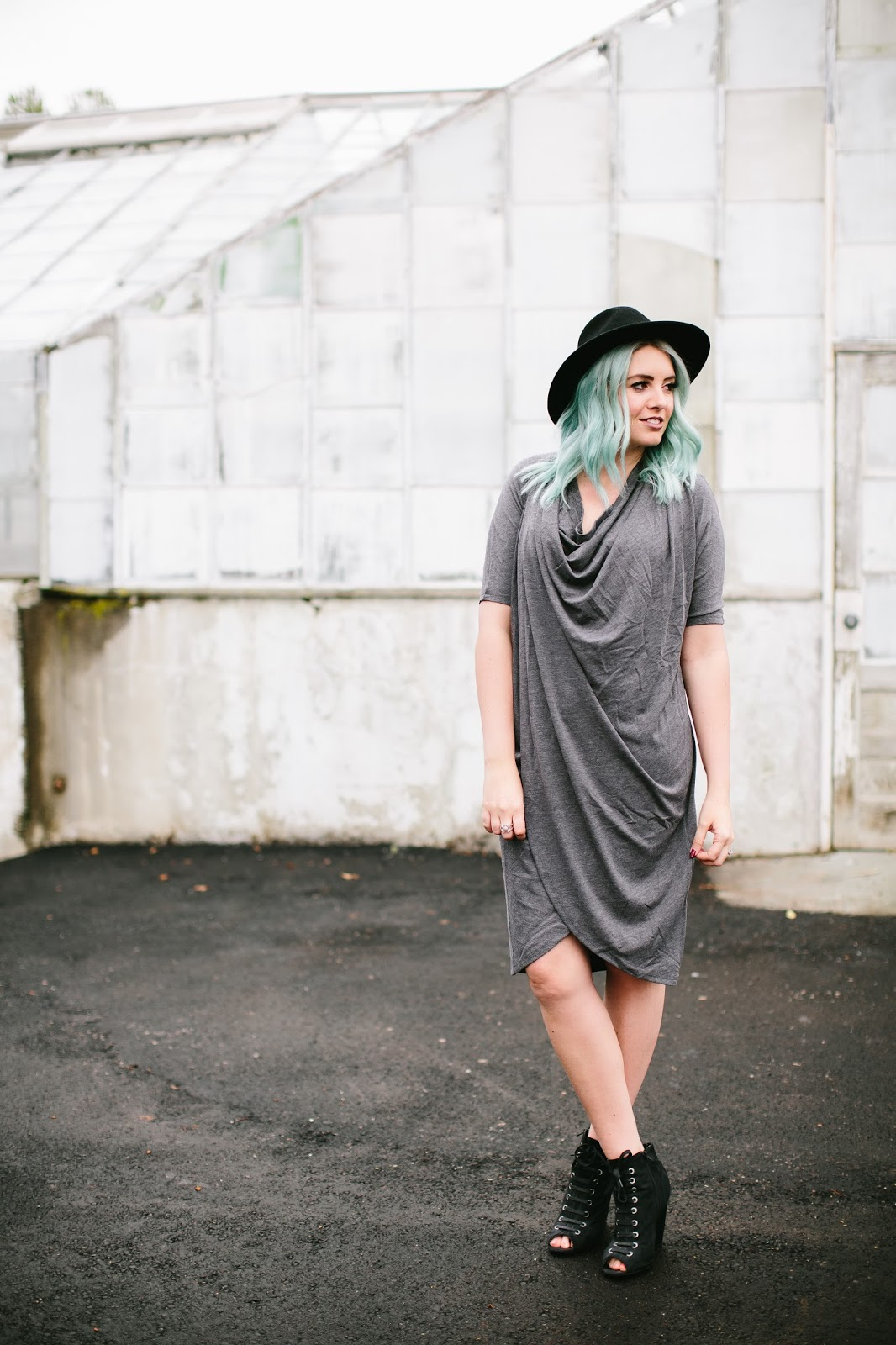 Grey Dress, Modest Outfit, Utah Fashion Blogger