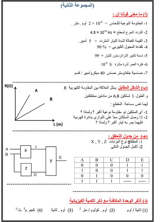 اليوم السابع: توقعات امتحان الفيزياء للثانوية العامة 2016  2