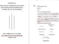 Contoh Proposal Anggaran Dana
