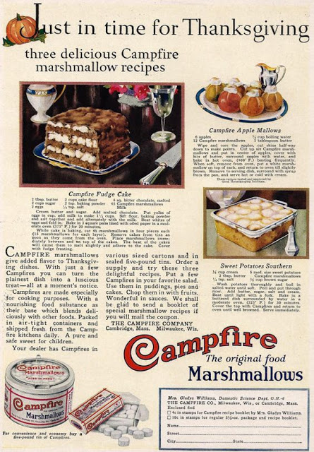 Campfire Brand Three Recipes In All For Your Holiday Fudge Cake Apple Mallows And Sweet Potatoes Southern Happy Thanksgiving