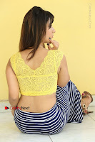 Cute Telugu Actress Shunaya Solanki High Definition Spicy Pos in Yellow Top and Skirt  0387.JPG