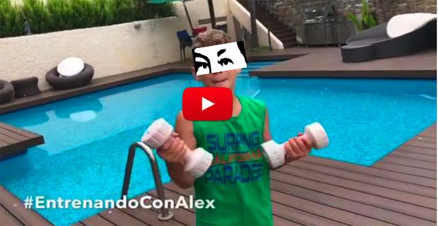 Winston Vallenilla nos muestra su jardín de lujo y su piscina