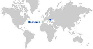 Gambar Peta letak Rumania