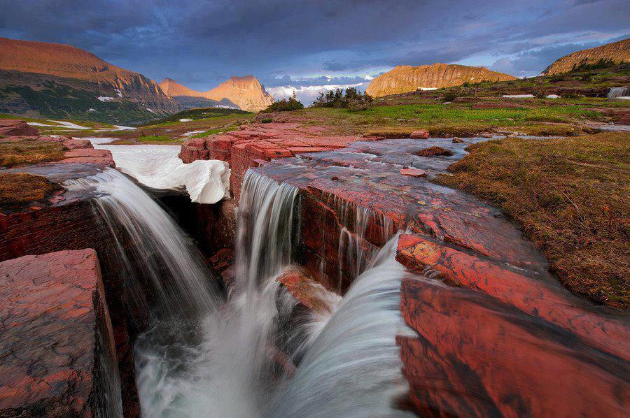 Showme Nan Triple Falls Glacier National Park Montana