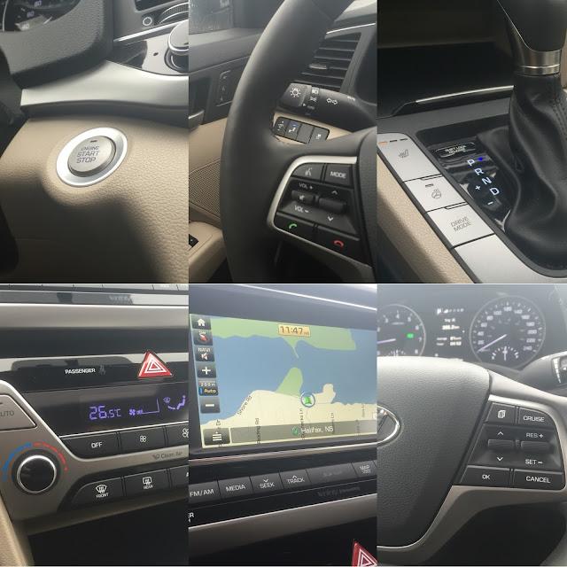 2017 Hyundai Elantra Limited interior collage