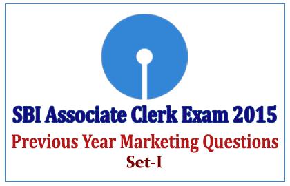 Marketing Questions asked in SBI Associate Clerk Exam