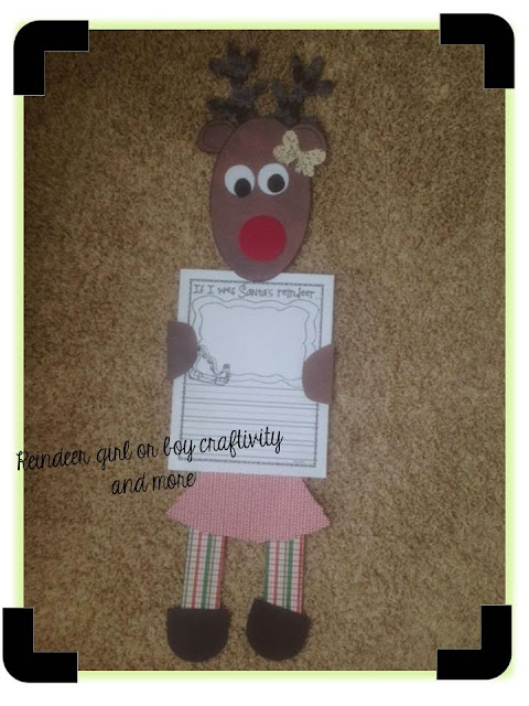 reindeer craftivity