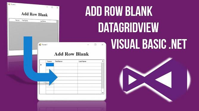 Add Row Blank Datagridview VB.Net, Tabel kosong datagridview vb.net,