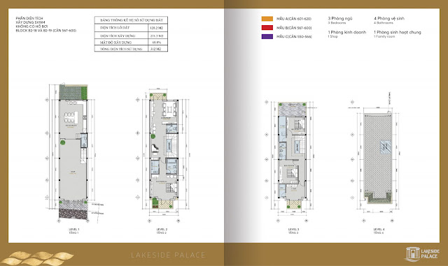 Thiết kế Shophouse mẫu A dự án Lakeside Palace
