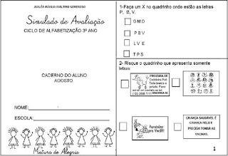 Simulado de português para 3º ano