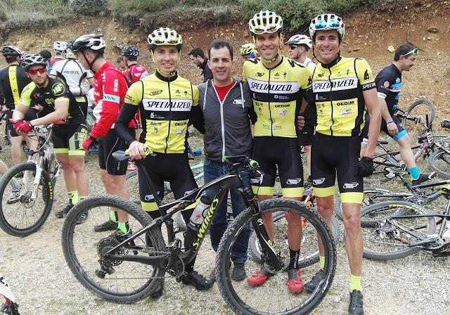 Manuel Beltrán, José Luis Carrasco y Rafa Ordóñez.