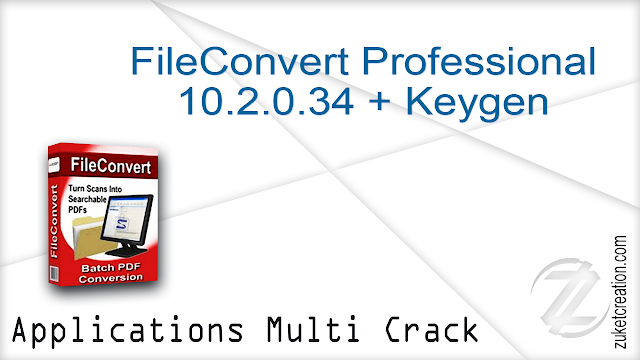FileConvert Professional 10.2.0.34 + Keygen  |  136 MB