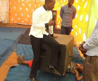 Pastor Kill Woman Trying To Put God To Test In Miracle Service After Place Heavy Speaker On her, See Photos