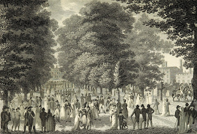Promenade in St James's Park  from Modern London by R Phillips (1804)