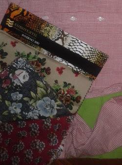Reaproveitar cartelas de tecido