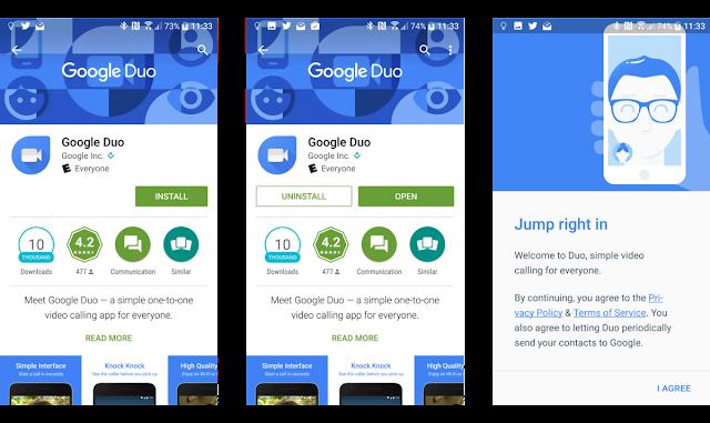 cara donwload dan install google duo