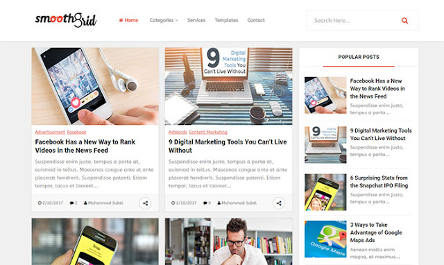 Smooth Blogger Template