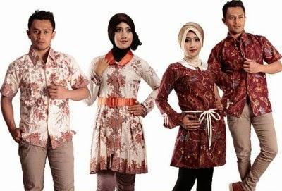Contoh Model Baju Muslim Batik Terbaru