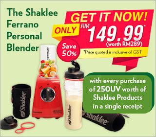 promotion Shaklee; Shaklee Labuan; ajen aktif shaklee; shaklee Brunei; alicia shaklee;