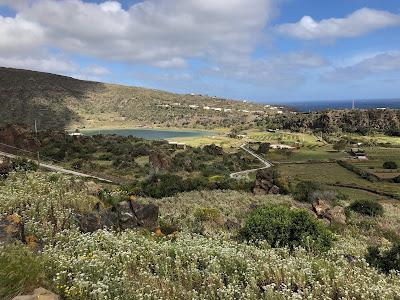 View toward Lago Specchio di Venere, Pantelleria.