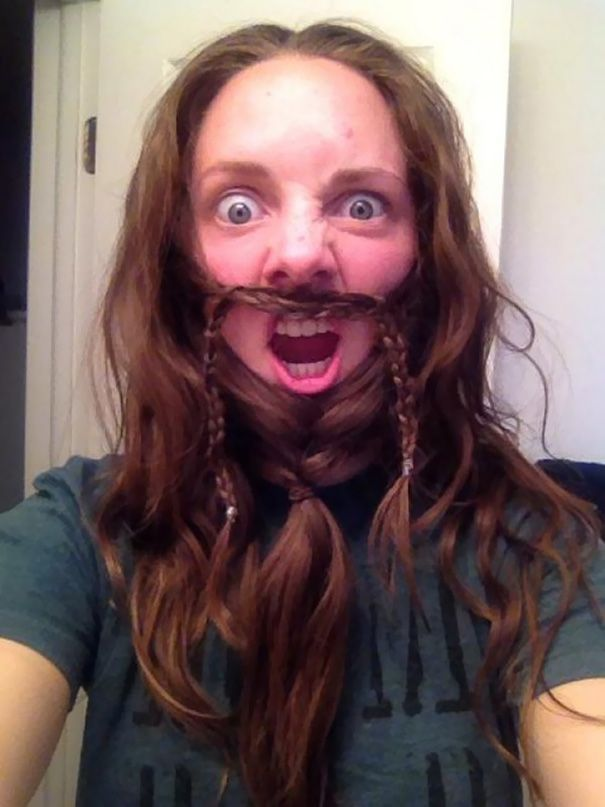 Turning Your Braided Hair Into A Beard The