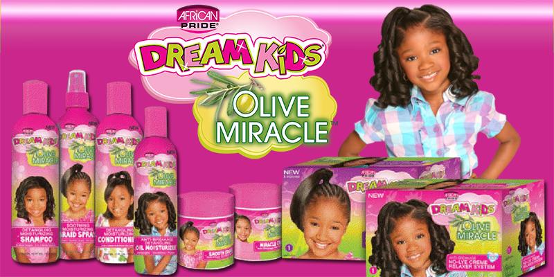 Productos para niños afro African Pride Dream kids Olive miracle