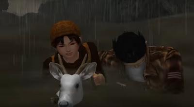 Ryo rescuing Shenhua rescuing a white fawn