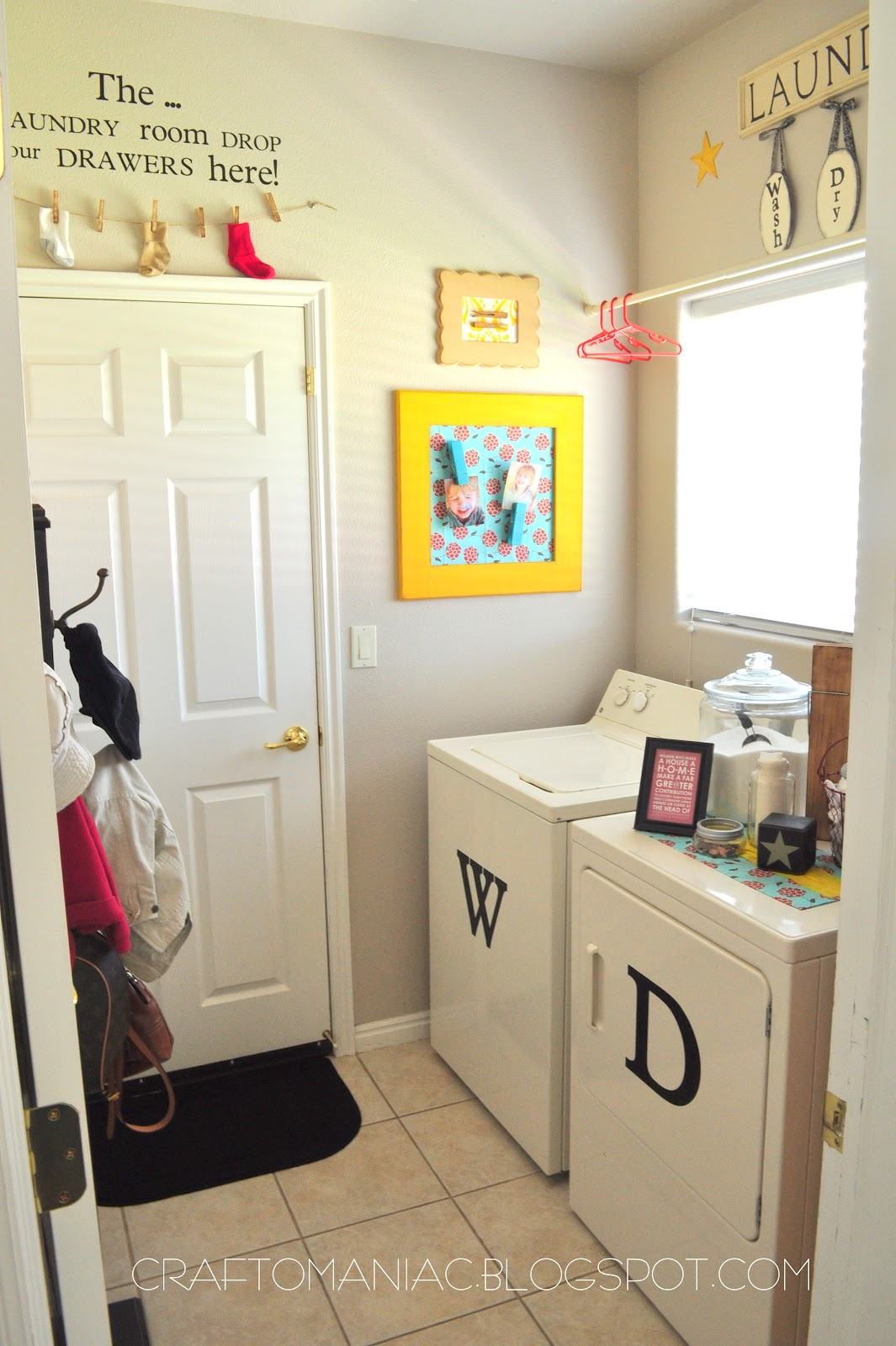 The Laundry Room Revisited - Craft-O-Maniac on Laundry Room Decor  id=92335