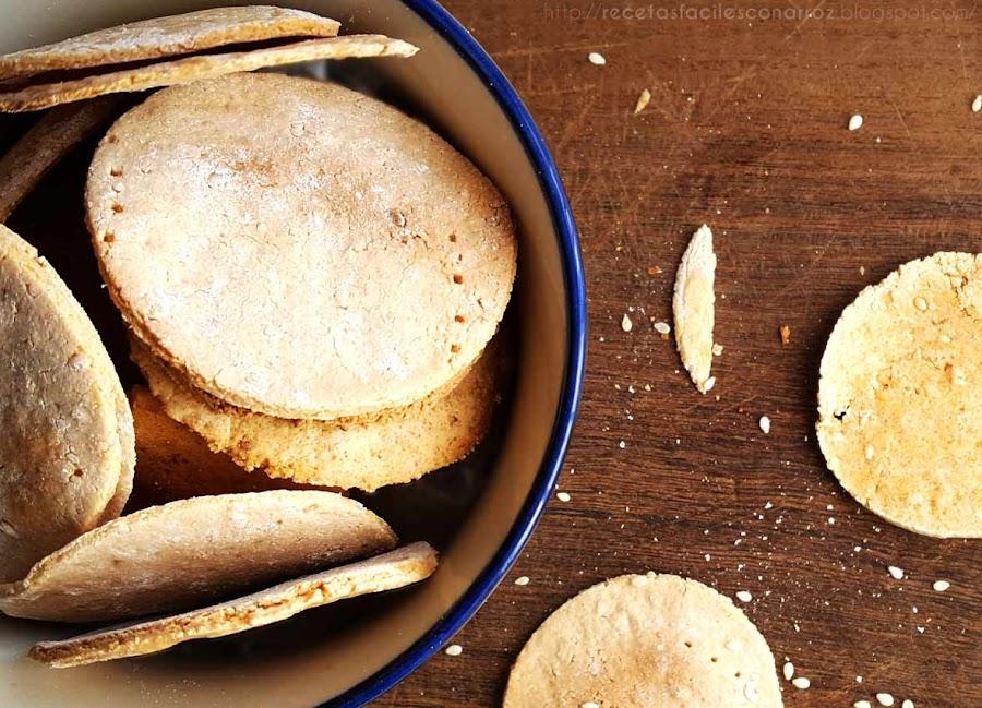 crackers de arroz
