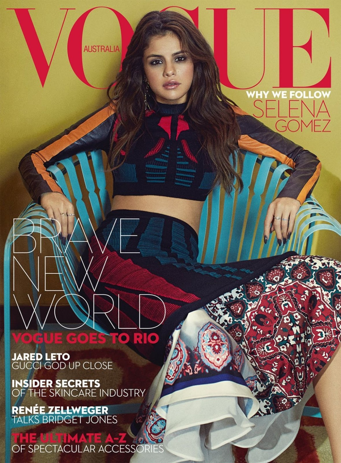 Selena Gomez in Vogue Magazine Australia Issue September 2016