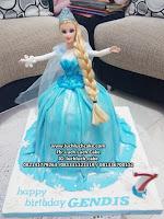 Frozen Elsa 3d Fondant Birthday Cake