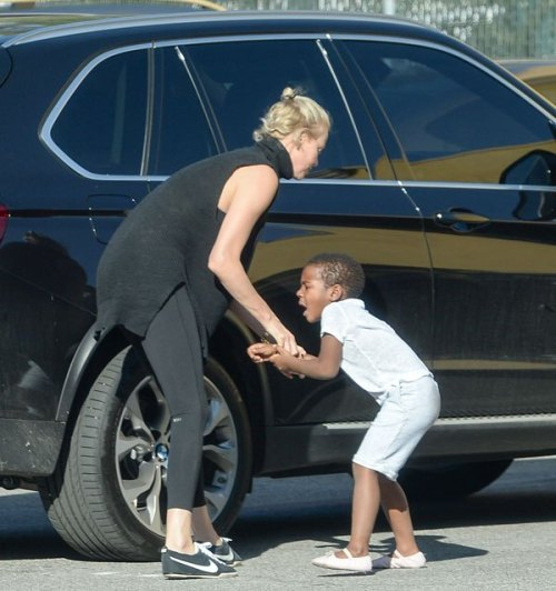 Charlize Theron's 4yr old son seen dressed in girl's ...