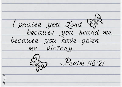 I praise you Lord because you heard me,
